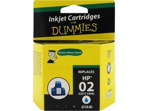 Ink for Dummies DH-02C(C8771WN) Cyan Ink Cartridge Replaces HP 02 (C8771WN)