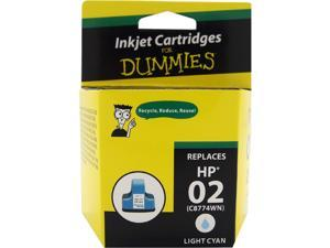 Ink for Dummies DH-02LC(C8774WN) Light Cyan Ink Cartridge Replaces HP 02L(C8774WN)