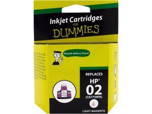 Ink for Dummies DH-02LM(C8775WN) Light Magenta Ink Cartridge Replaces HP 02 (C8775WN)