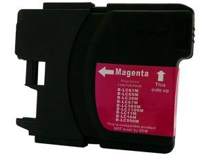 Green Project B-LC61/65M Magenta Ink Cartridge replaces Brother LC65M