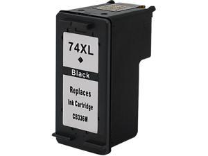 Green Project H-74XL(CB336WN) Black Ink Cartridge Replaces HP 74XL(CB336WN)