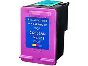 Green Project H-901CMY(CC656AN) 3 Colors Ink Cartridge Replaces HP 901CMY(CC656AN)