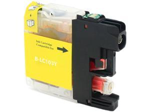 Green Project B-LC103Y Yellow Ink Cartridge Replaces Brother LC103Y