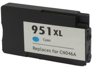 Green Project H-951XLC(CN046AN) Cyan Ink Cartridge Replaces HP 951XLC(CN046AN)