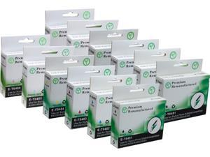 Green Project E-T0481(12)PK Black and Colors Compatible Epson E-T0481 Ink Cartridge 12 Pack