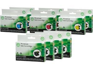 Green Project B-LC75(10PK) Black and Colors Compatible Brother LC75 Ink Cartridge 10 Pack