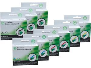 Green Project E-T1271(9)PK Black and Colors Compatible Epson E-T1271 Ink Cartridge 9 Pack
