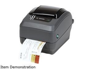 Zebra GX43-102411-000 GX430t Direct Thermal/Thermal Transfer Label Printer - USB/Serial/Ethernet, Dispenser