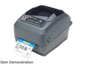 Zebra GX43-102410-100 GX430t Direct Thermal/Thermal Transfer Label Printer - USB/Serial/Ethernet, Tear Off, Black Line Sensor