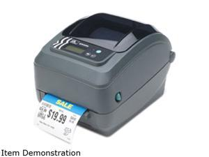 Zebra GX43-102510-100 GX430t Direct Thermal/Thermal Transfer Label Printer - USB/Serial/Parallel, Tear Off, Black Line Sensor