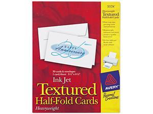 Avery 3378 Personal Creations Printable Textured Cards/Envelopes, 5-1/2 x 8-1/2, 30/Box