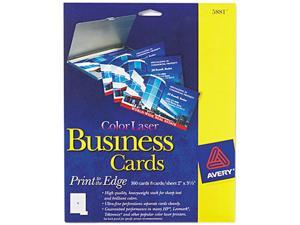 Avery Laser Business Cards, 2 x 3 1/2, White, 8 per Sheet, 160 per Pack