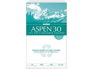 Boise 054904 ASPEN 30% Recycled Office Paper, 92 Bright, 20lb, 8-1/2 x 14, 5000/Carton