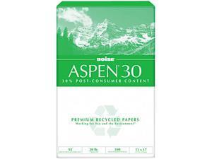Boise 054907 ASPEN 30% Recycled Office Paper, 92 Bright, 20lb, 11 x 17, White, 2500 /Carton