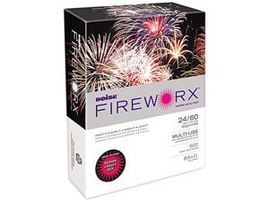 Boise MP2241-RY FIREWORX Colored Paper, 24lb, 8-1/2 x 11, Roman Candle Red, 500 Sheets/Ream