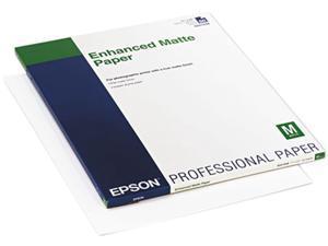 Epson America S041908 Ultra Premium Matte Presentation Paper, 17 x 22, White, 50/Pack