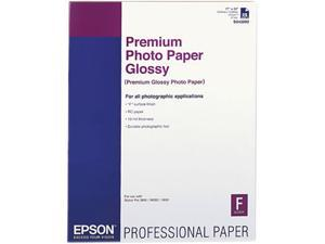 Epson America S042092 Premium Photo Paper, 68 lbs., High-Gloss, 17 x 22, 25 Sheets/Pack