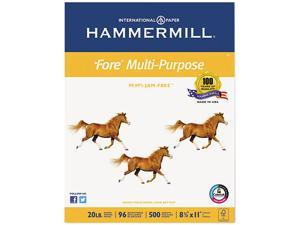 Hammermill Fore MP Multipurpose Paper, 96 Brightness, 20lb, 8-1/2x11, White, 5000/Carton