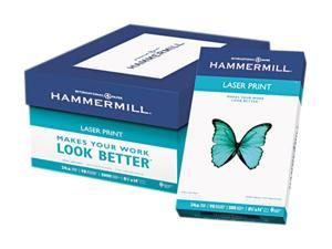 Hammermill 10461-2 Laser Print Office Paper, 98 Brightness, 24lb, 8-1/2 x 14, White, 500 Sheets/RM
