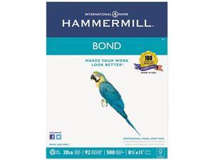 Hammermill 11831-5 Multipurpose Bond Paper, 92 Brightness, 20lb, 8-1/2 x 11, White, 500 Sheets/Ream