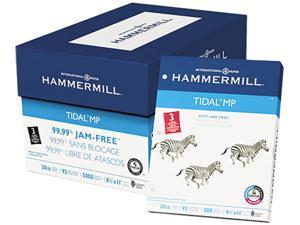Hammermill 16203-2 Tidal MP Copy 3-Hole Punched Paper, 92 Brightness, 20lb, Ltr, White, 5000/Ctn