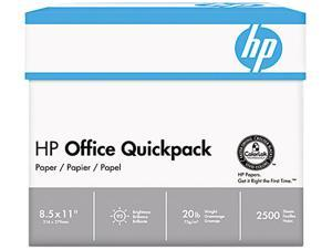 Hewlett-Packard 11210-3 Office Paper, 92 Brightness, 20lb, 8-1/2 x 11, White, 2500 Sheets/Carton