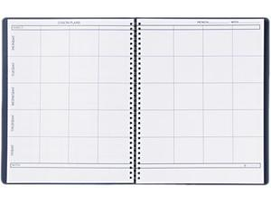 House of Doolittle 51007 Lesson Plan Book, Embossed Leather-Like Cover, 11 x 8-1/2, Blue