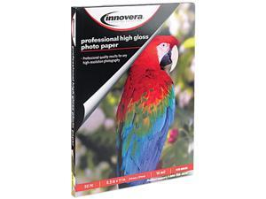 Innovera 99550 High-Gloss Photo Paper, 8-1/2 x 11, 50 Sheets/Pack