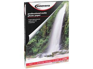 Innovera 99650 Heavyweight Photo Paper, Matte, 8-1/2 x 11, 50 Sheets/Pack