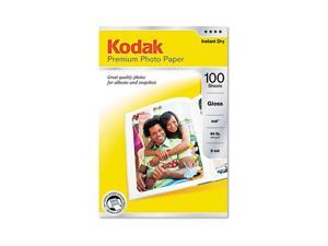 Kodak Premium Photo Paper, 64lb, Glossy, 4 x 6, 100 Sheets/Pack