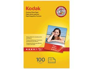 Kodak 1034388 Premium Photo Paper, 64lb, Glossy, 4 x 6, 100 Sheets/Pack