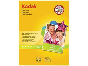 Kodak 1213719 Photo Paper, 6.5 mil, Glossy, 8-1/2 x 11, 50 Sheets/Pack