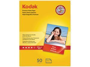 Kodak 8360513 Premium Photo Paper, 64lb, Glossy, 8-1/2 x 11, 50 Sheets/Pack