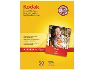 Kodak Premium Photo Paper, 64lb, Matte, 8-1/2 x 11, 50 Sheets/Pack