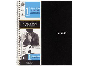 """Mead 06206 Five Star 1-Subject Notebook 100 Sheets 11"""" x 8.50"""" - 1Each - White Paper"""