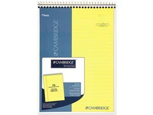 Mead 59880 Cambridge Premium Wirebound Legal Pad, Legal Rule, Letter, Canary, 70 Sheets/Pad