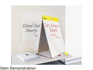 Post-it Easel Pads 563-DE Dry Erase Tabletop Easel Pad, 20 x 23, White, 20 Sheets/Pad