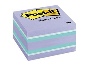 Post-it Cube, 3 x 3, Blue Ice, 490 Sheets