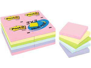 Post-it Notes 654-24APVAD Pastel Notes Value Pack, 3 x 3, Assorted, 24 100-Sheet Pads/Pack