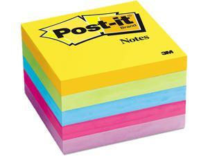 Post-it Notes 654-5UC Ultra Color Notes, 3 x 3, Five Colors, 5 100-Sheet Pads/Pack
