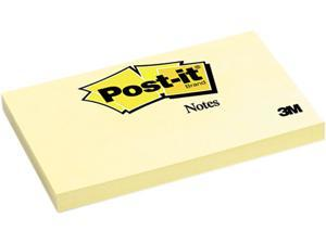 Post-it                                  Original Notes, 3 x 5, Canary Yellow, 12 100-Sheet Pads/Pack