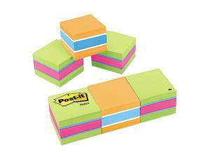 Post-it                                  Mini Cubes, 2 x 2, Assorted Ultra Colors, 3 400-Sheet Pads/Pack