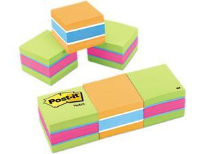 Post-it 20513PK - Mini Cubes, 2 x 2, Assorted Ultra Colors, 3 400-Sheet Pads/Pack