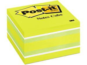 Post-it Notes 2056-RC Cube, 3 x 3, Ribbon Candy, 470 Sheets