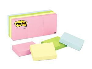 Post-it                                  Color Notes, 1-1/2 x 2, Pastel Colors, 12 100-Sheet Pads/Pack