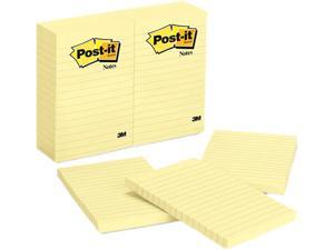 Post-it Notes 660-YW Original Notes, 4 x 6, Lined, Canary Yellow, 12 100-Sheet Pads/Pack