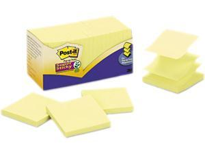 Post-it Notes Super Sticky R220-20SSY Super Sticky Pop-Up Refill, 2 x 2, Canary Yellow, 20 45-Sheet Pads/Pack