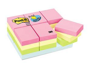 Post-it                                  Pastel Notes Value Pack, 1 1/2 x 2, Assorted, 24 100-Sheet Pads/Pack