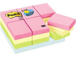 Post-it Notes 653-24APVAD Pastel Notes Value Pack, 1 1/2 x 2, Assorted, 24 100-Sheet Pads/Pack
