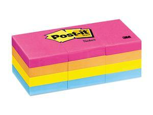 Post-it                                  1-1/2 x 2, Neon Colors,12 100-Sheet Pads/Pack